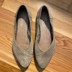 Toms Perforated Suede Jutti Flats